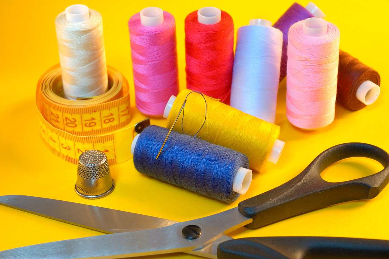threads, needle, sewing